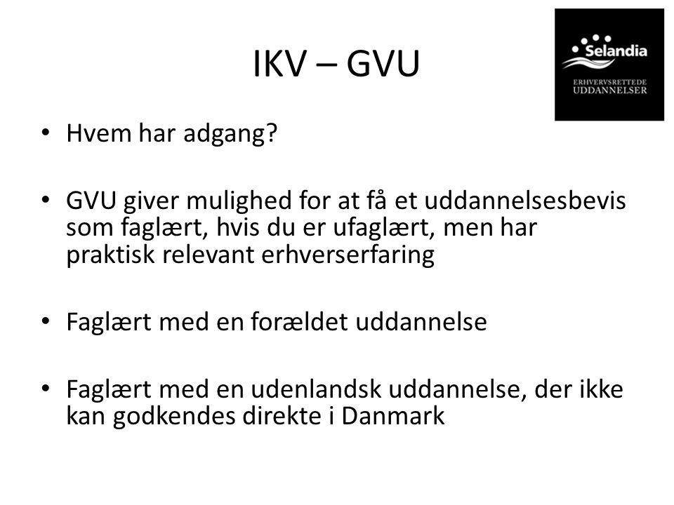 IKV – GVU Hvem har adgang