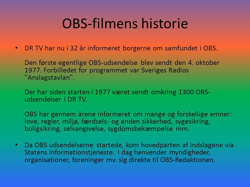OBS-filmens historie