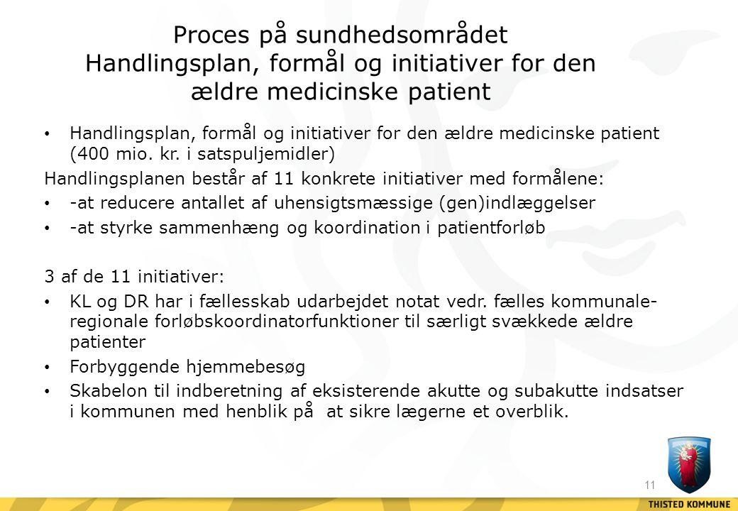 Proces på sundhedsområdet Handlingsplan, formål og initiativer for den ældre medicinske patient
