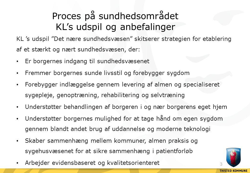 Proces på sundhedsområdet KL's udspil og anbefalinger