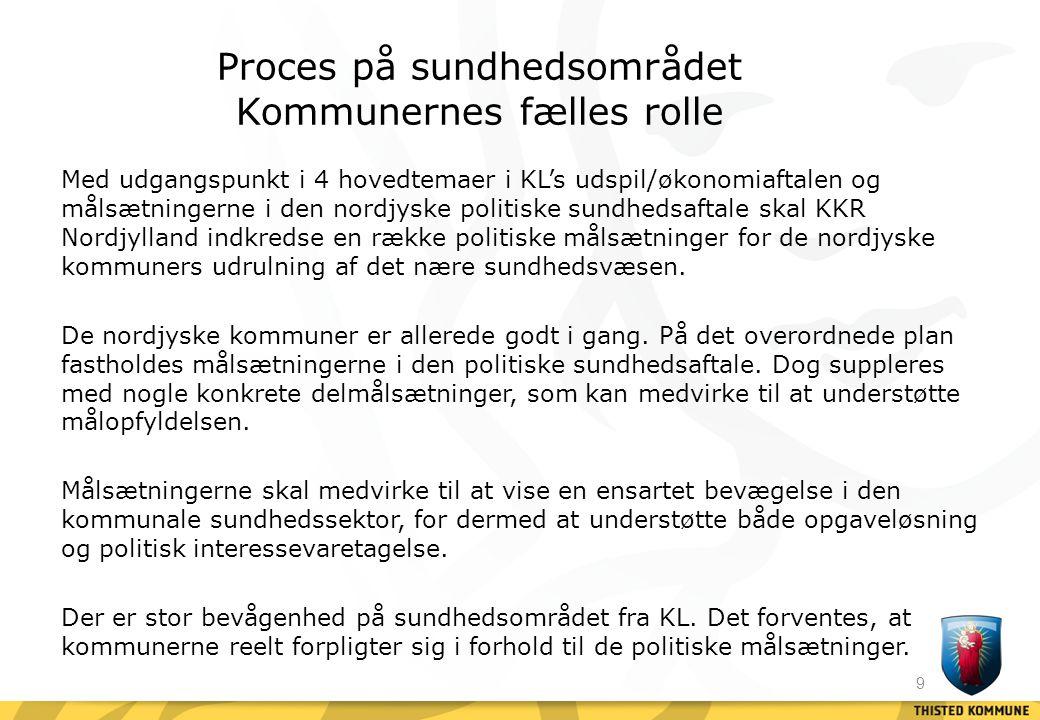 Proces på sundhedsområdet Kommunernes fælles rolle