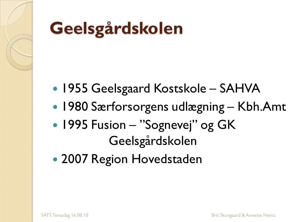 Geelsgårdskolen 1955 Geelsgaard Kostskole – SAHVA
