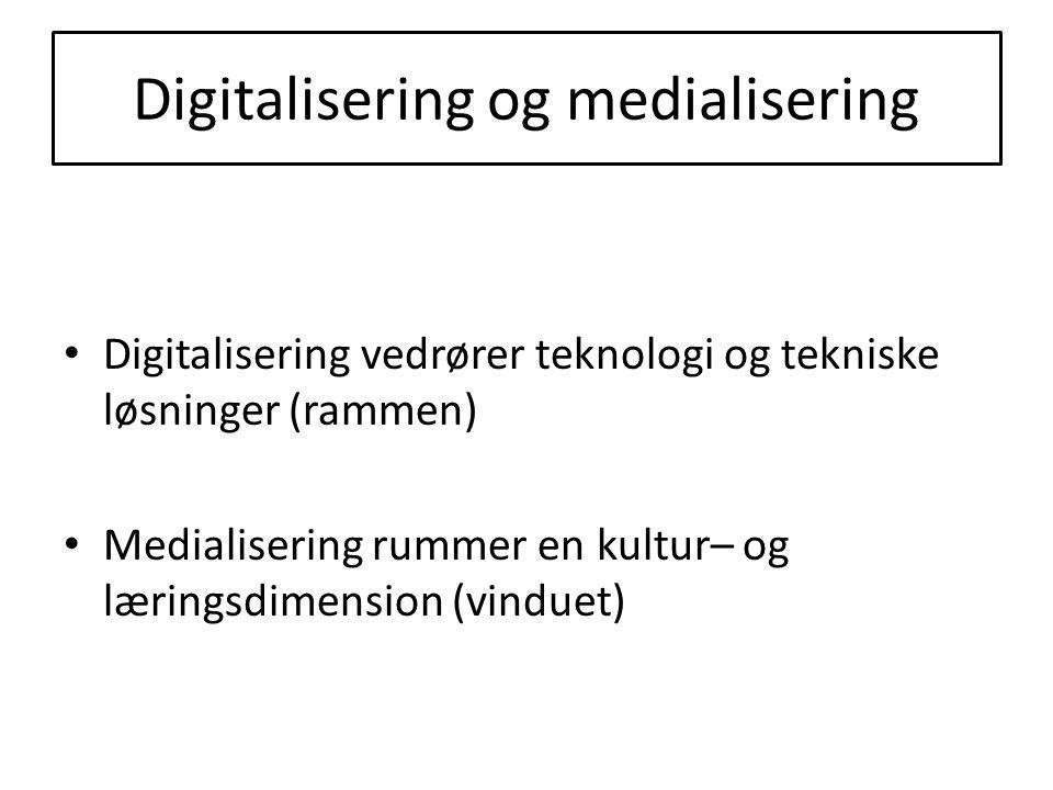 Digitalisering og medialisering