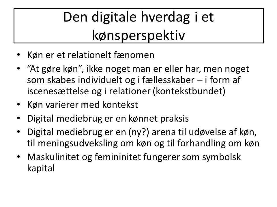 Den digitale hverdag i et kønsperspektiv