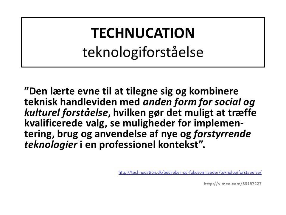 TECHNUCATION teknologiforståelse