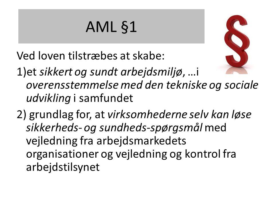 AML §1 Ved loven tilstræbes at skabe: