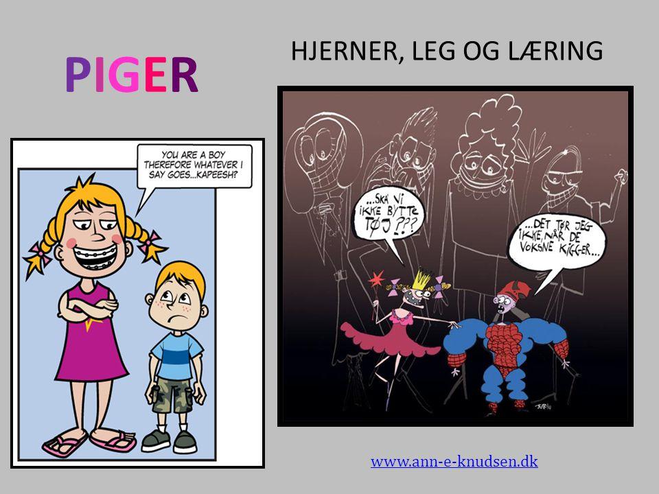 HJERNER, LEG OG LÆRING PIGER www.ann-e-knudsen.dk