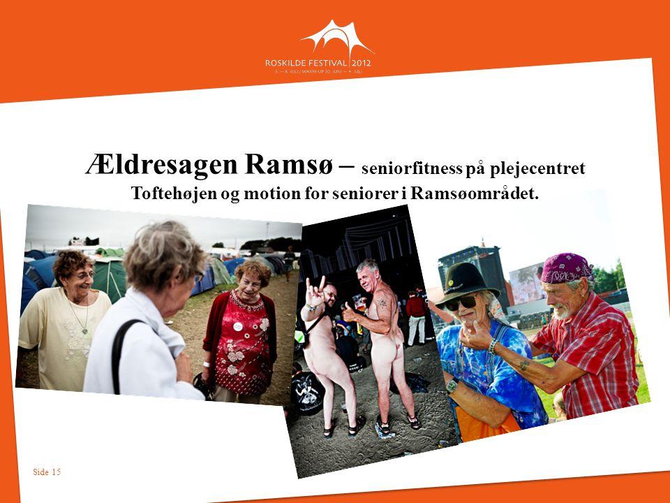 Ældresagen Ramsø – seniorfitness på plejecentret Toftehøjen og motion for seniorer i Ramsøområdet.