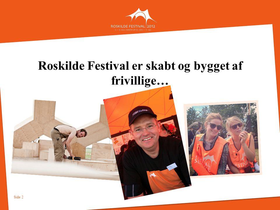 Roskilde Festival er skabt og bygget af frivillige…