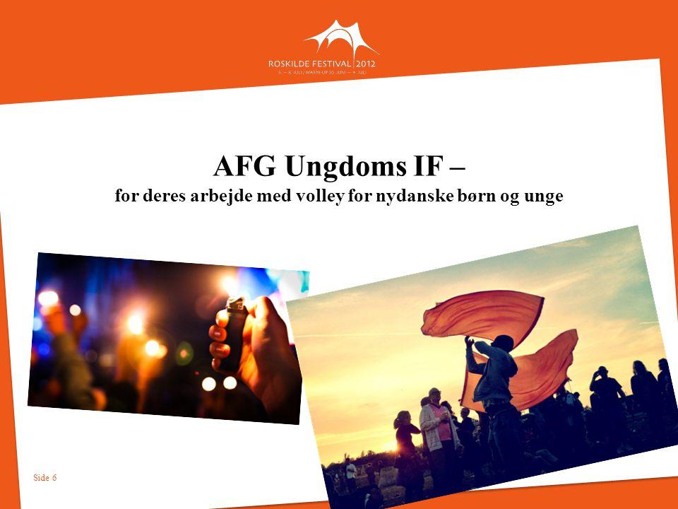 AFG Ungdoms IF – for deres arbejde med volley for nydanske børn og unge
