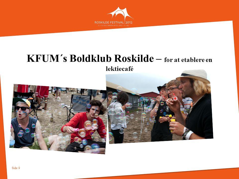 KFUM´s Boldklub Roskilde – for at etablere en lektiecafé