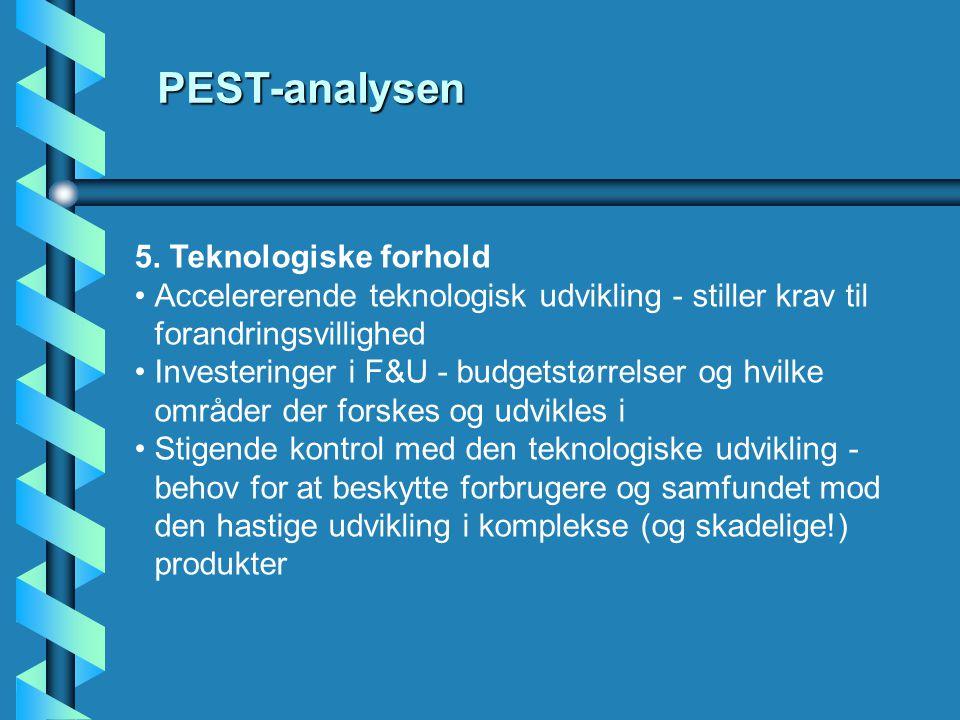 PEST-analysen 5. Teknologiske forhold