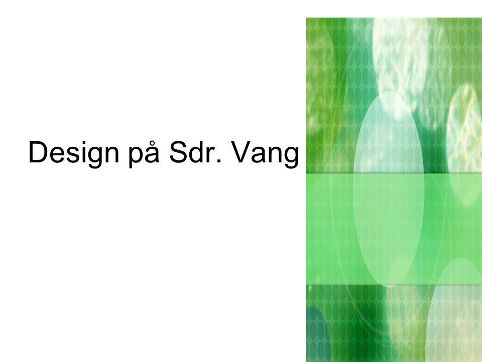 Design på Sdr. Vang Skole