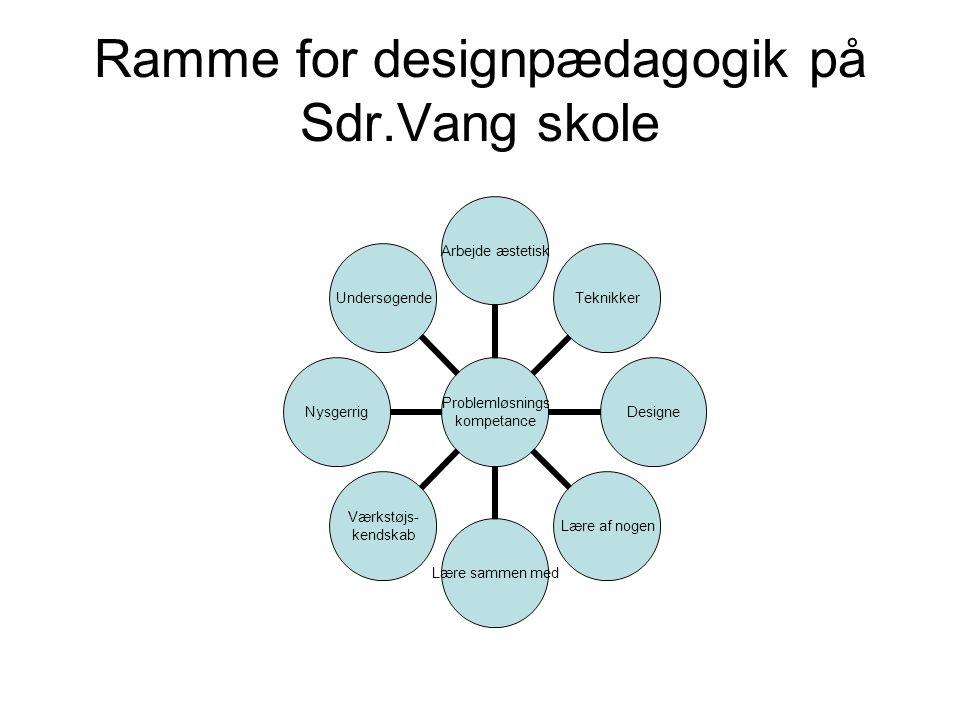 Ramme for designpædagogik på Sdr.Vang skole