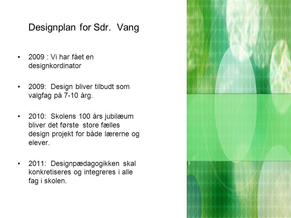Designplan for Sdr. Vang