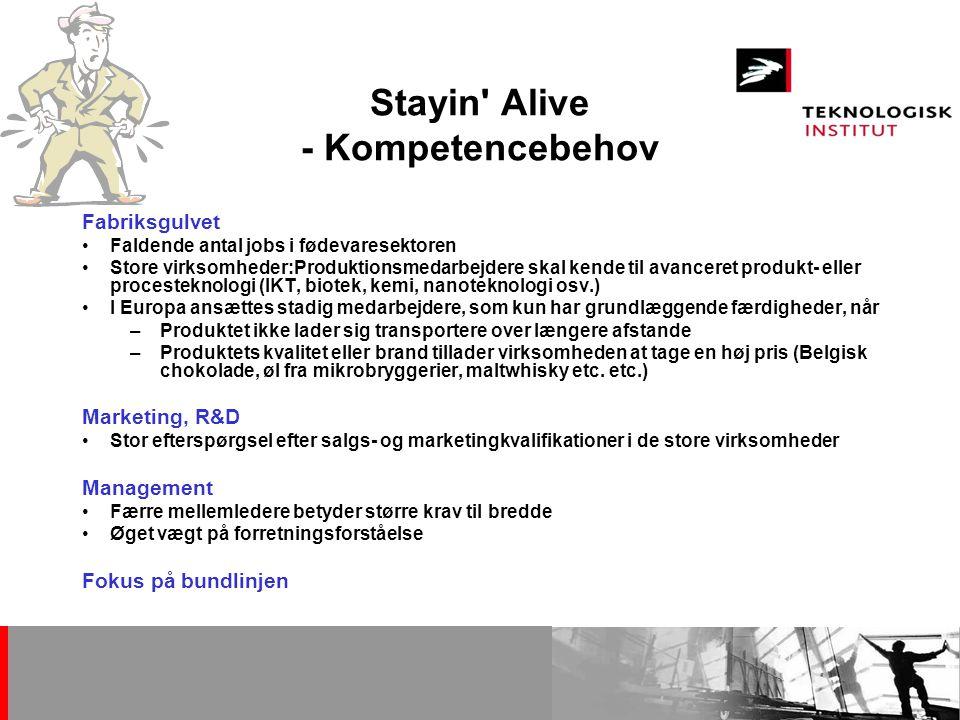Stayin Alive - Kompetencebehov