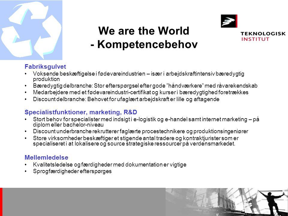 We are the World - Kompetencebehov