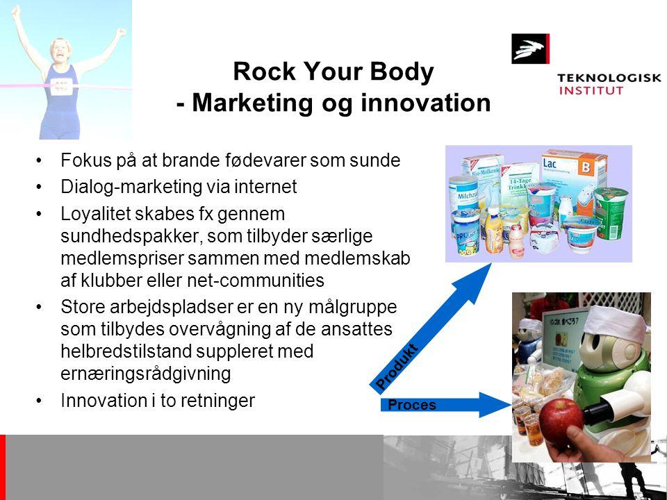 Rock Your Body - Marketing og innovation