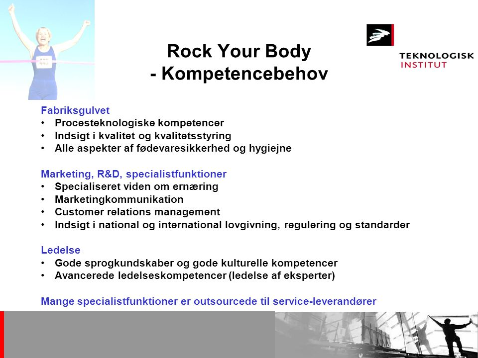 Rock Your Body - Kompetencebehov