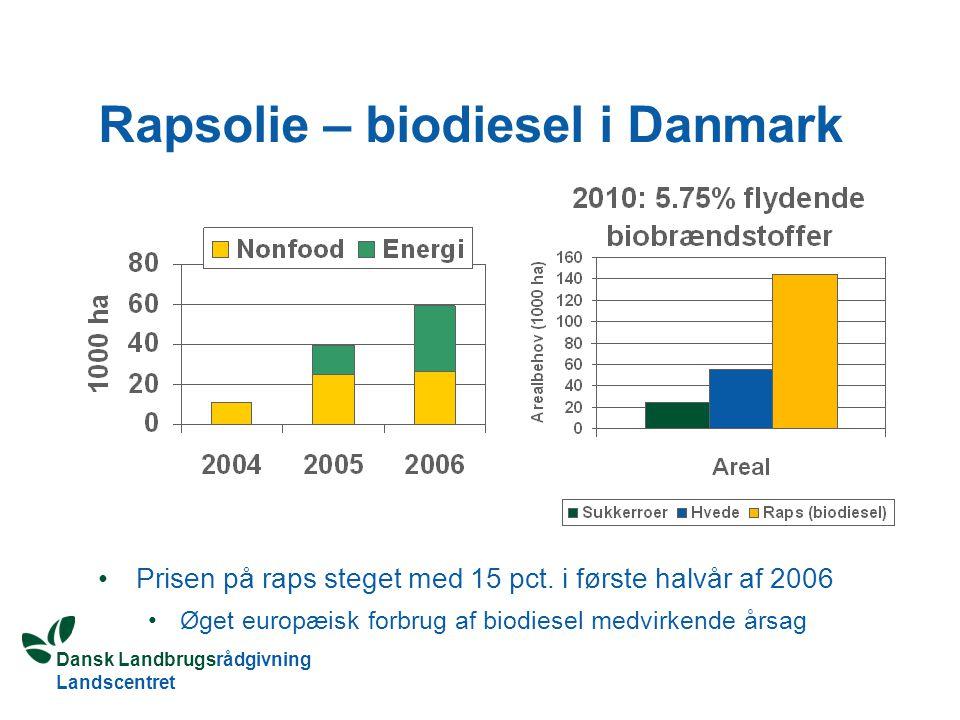 Rapsolie – biodiesel i Danmark