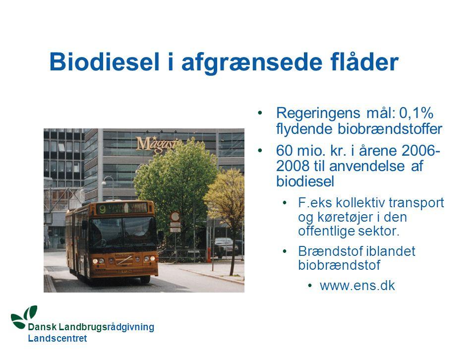 Biodiesel i afgrænsede flåder
