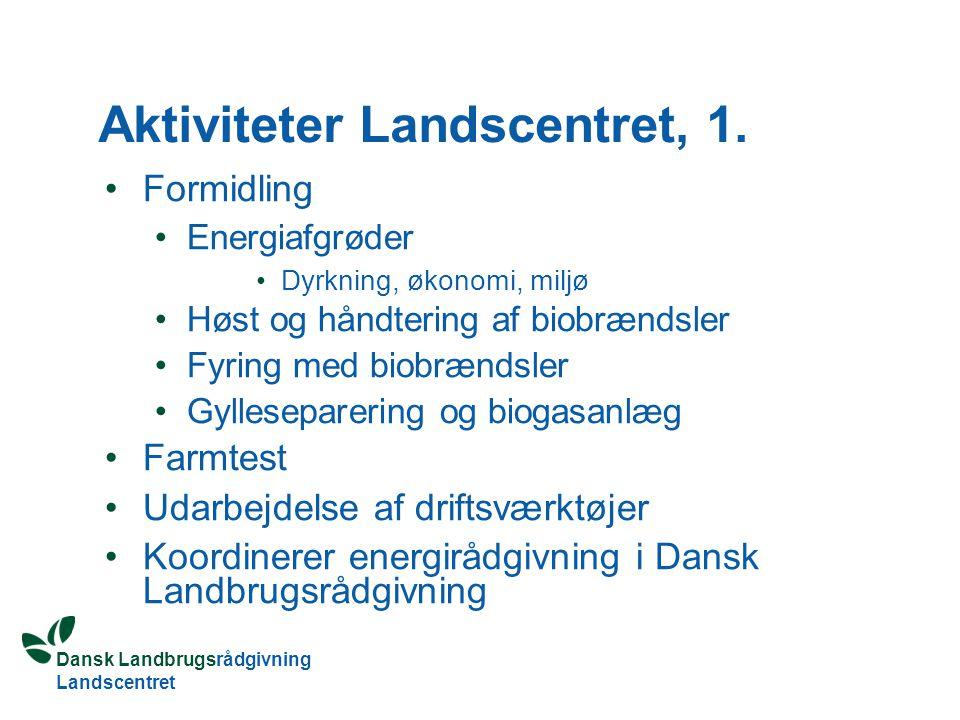 Aktiviteter Landscentret, 1.