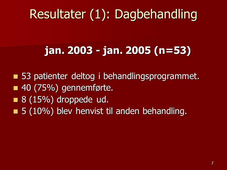Resultater (1): Dagbehandling