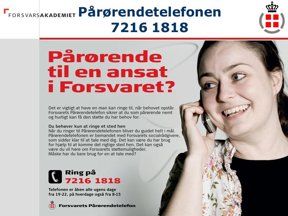 Pårørendetelefonen 7216 1818