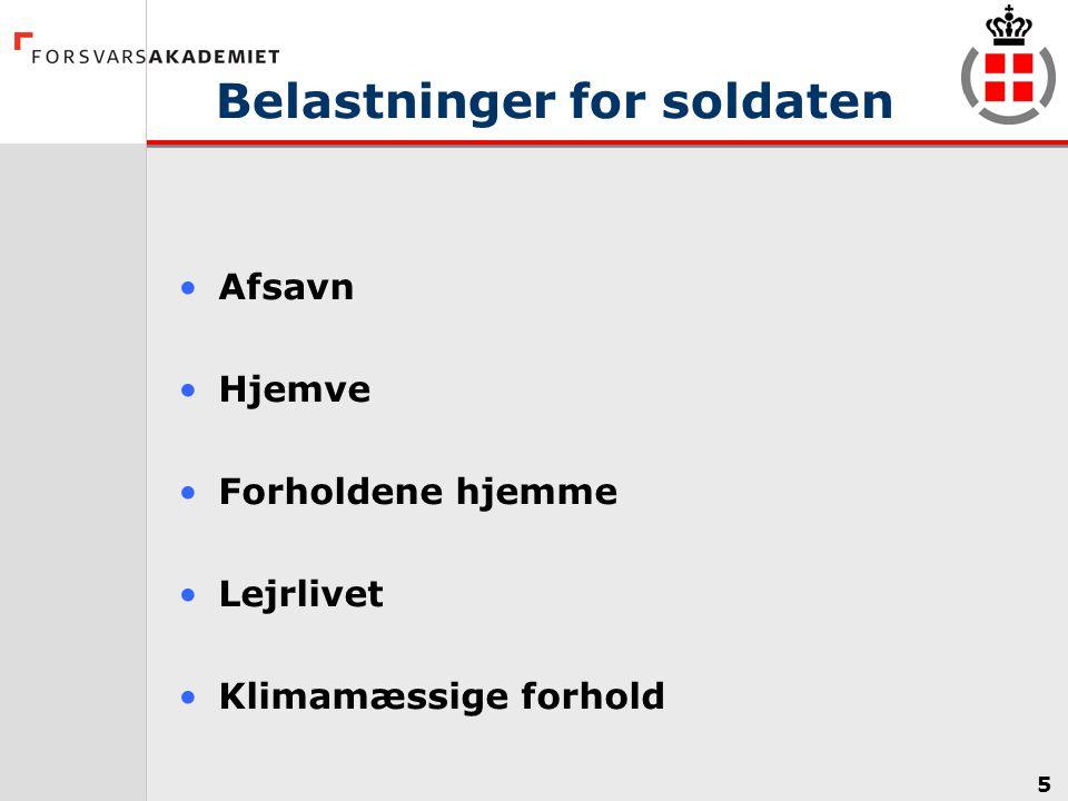 Belastninger for soldaten