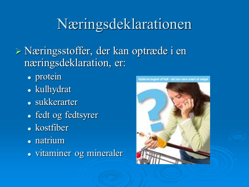Næringsdeklarationen