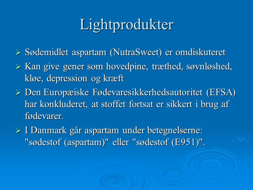 Varedeklarationer Og lightprodukter. - ppt download