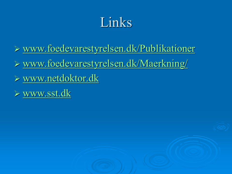 Links www.foedevarestyrelsen.dk/Publikationer