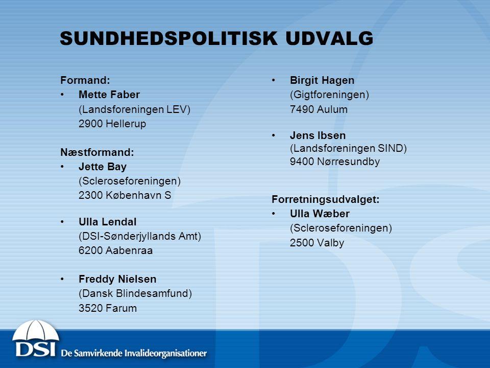 SUNDHEDSPOLITISK UDVALG
