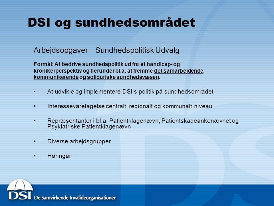 DSI og sundhedsområdet