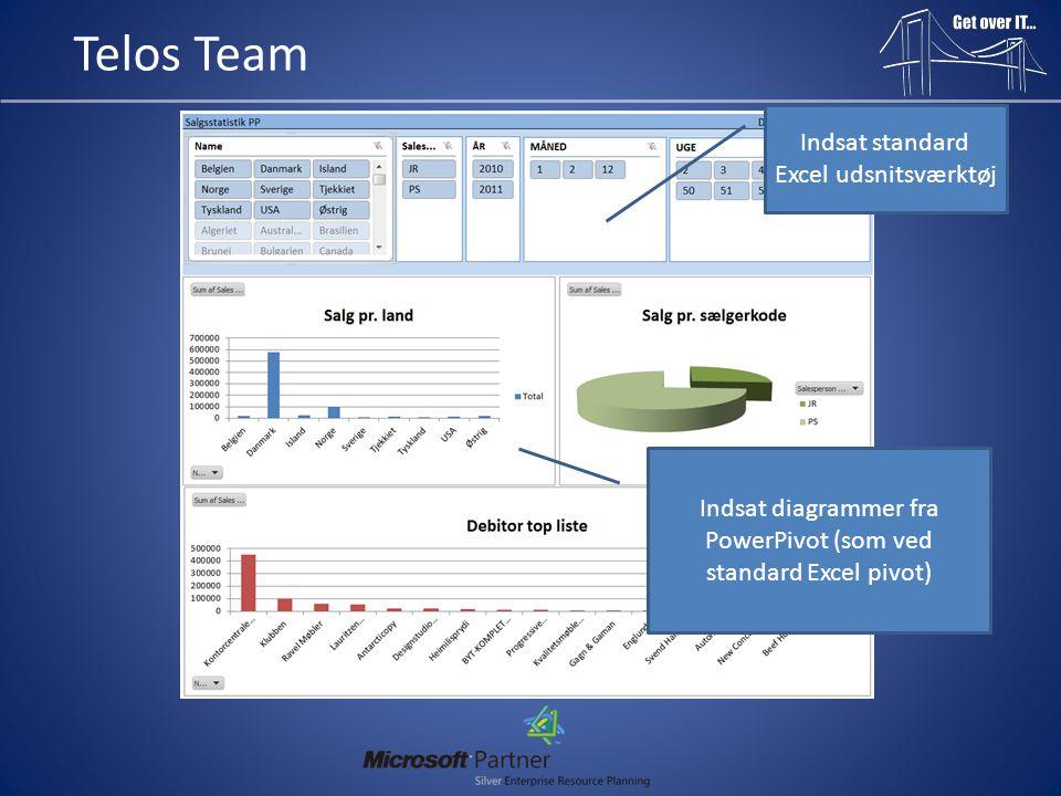 Telos Team Indsat standard Excel udsnitsværktøj