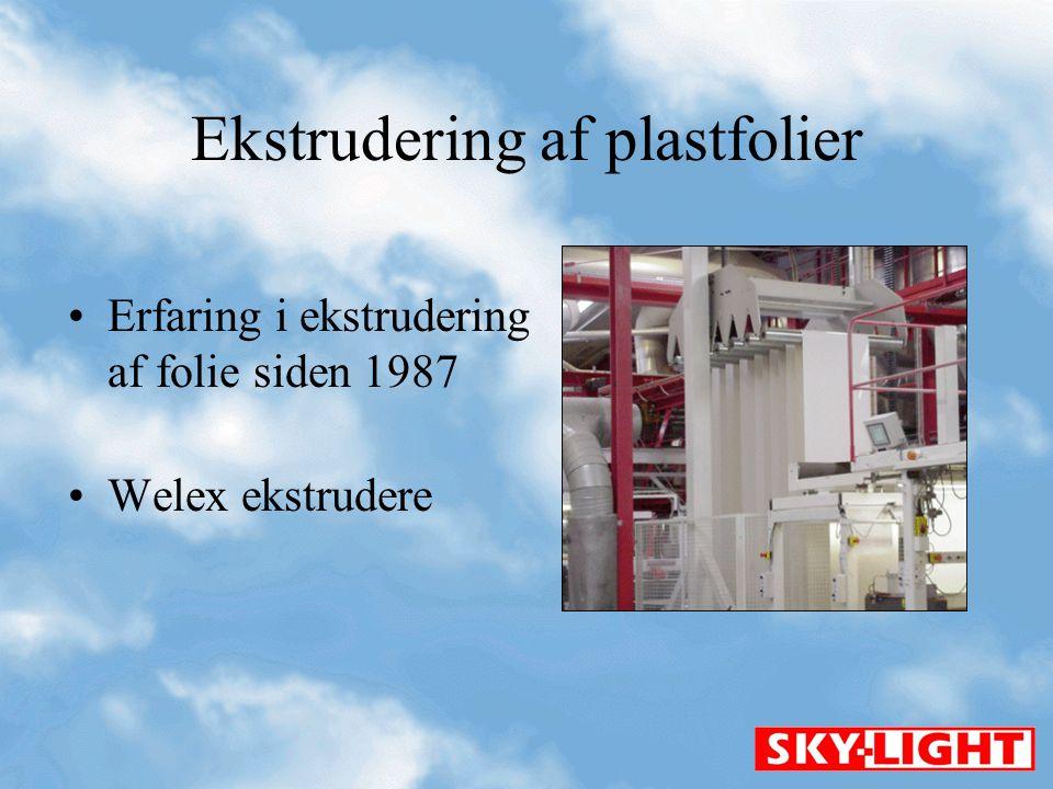 Ekstrudering af plastfolier