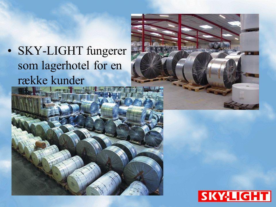 SKY-LIGHT fungerer som lagerhotel for en række kunder