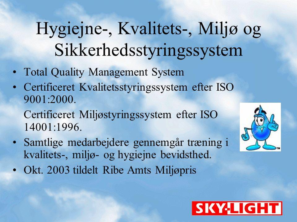 Hygiejne-, Kvalitets-, Miljø og Sikkerhedsstyringssystem