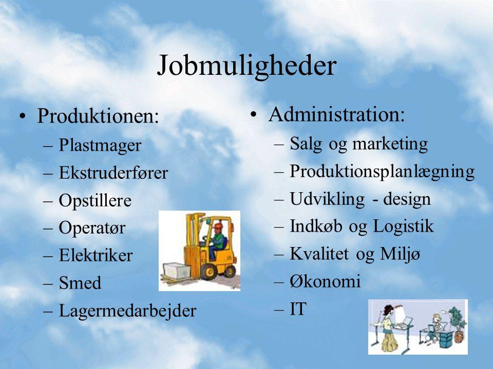 Jobmuligheder Produktionen: Administration: Plastmager