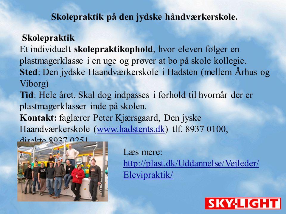 Skolepraktik på den jydske håndværkerskole.