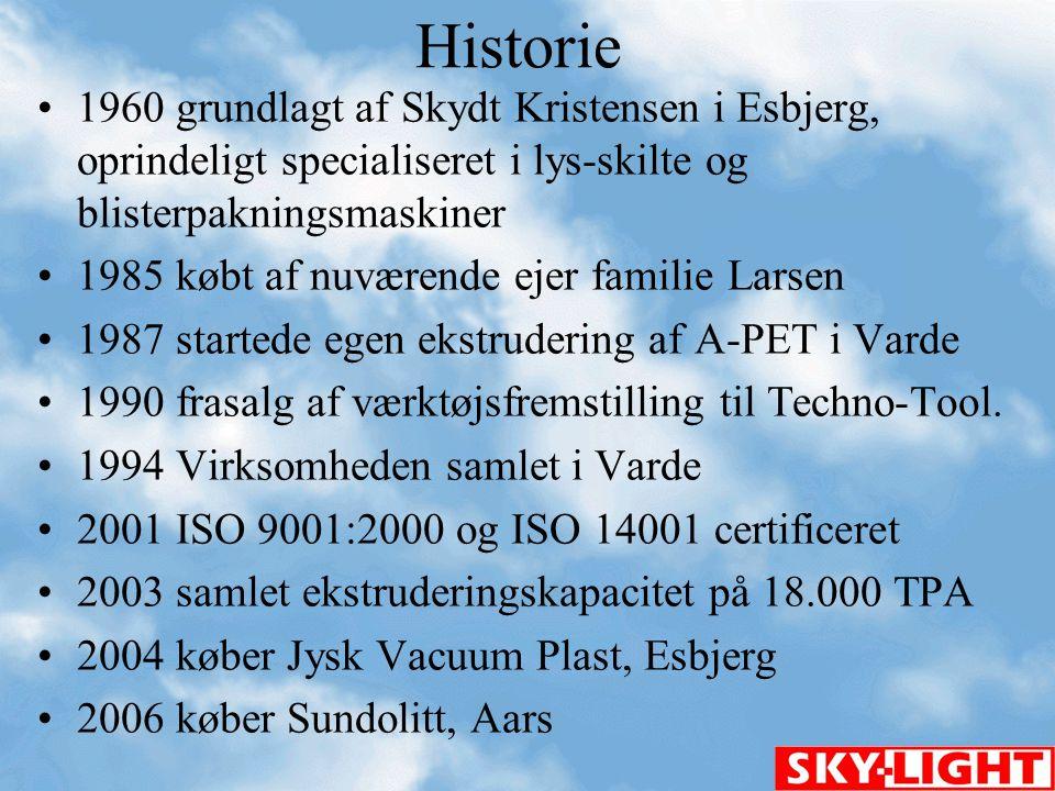 Historie 1960 grundlagt af Skydt Kristensen i Esbjerg, oprindeligt specialiseret i lys-skilte og blisterpakningsmaskiner.