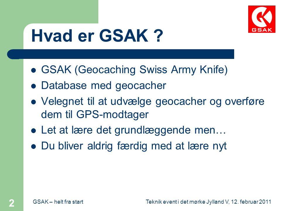 Hvad er GSAK GSAK (Geocaching Swiss Army Knife)