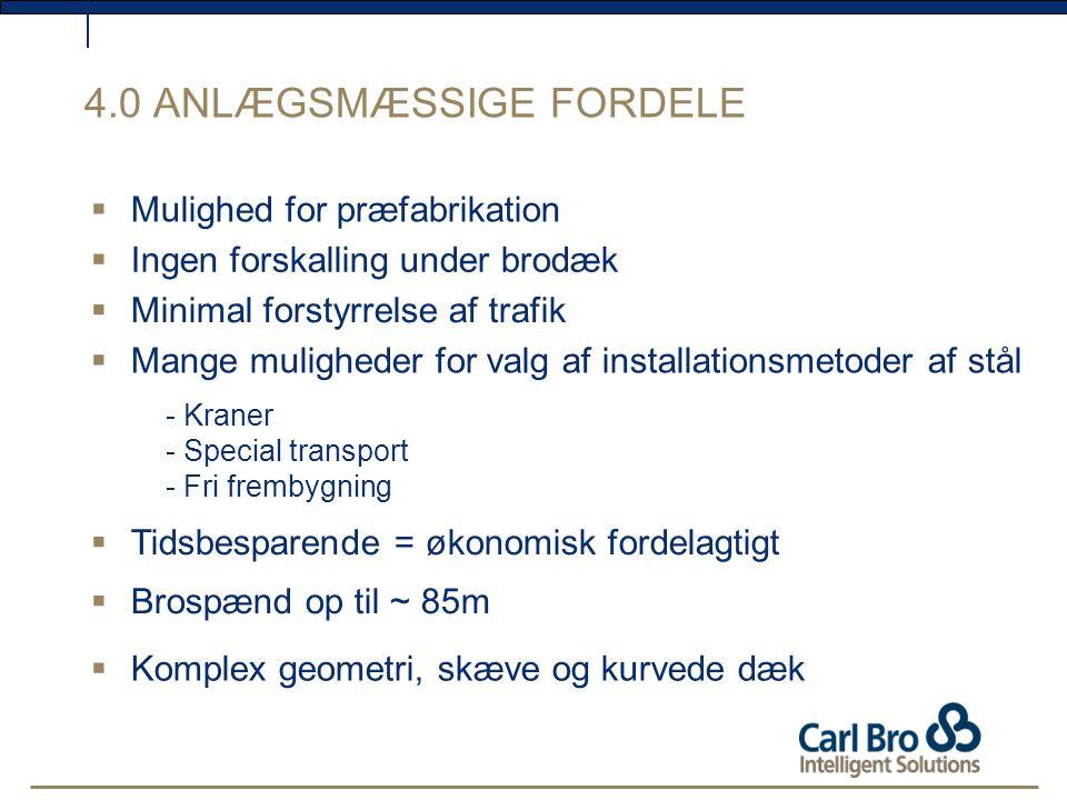 4.0 ANLÆGSMÆSSIGE FORDELE