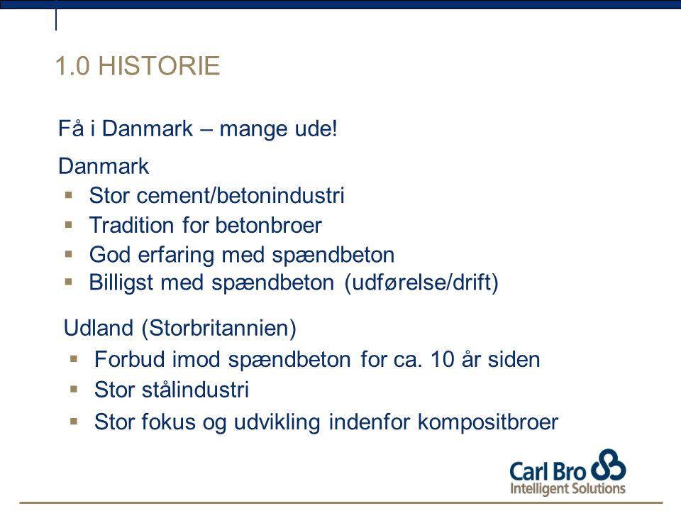 1.0 HISTORIE Få i Danmark – mange ude! Danmark
