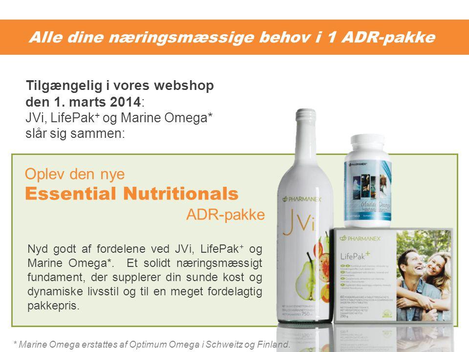 Alle dine næringsmæssige behov i 1 ADR-pakke