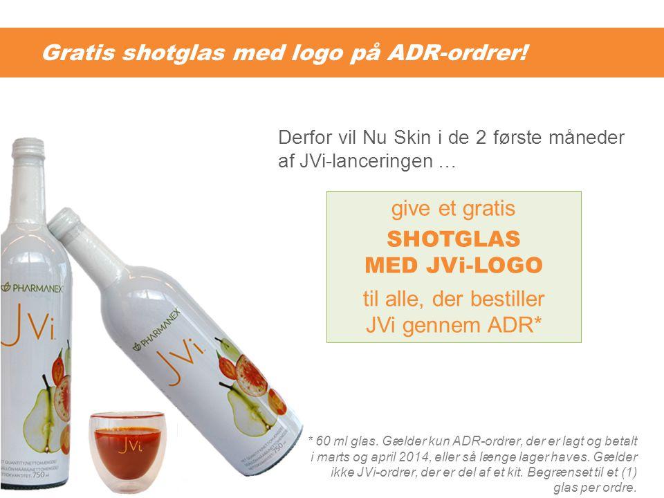 Gratis shotglas med logo på ADR-ordrer!