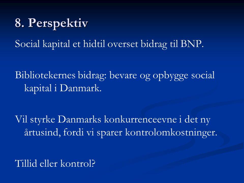 8. Perspektiv Social kapital et hidtil overset bidrag til BNP.
