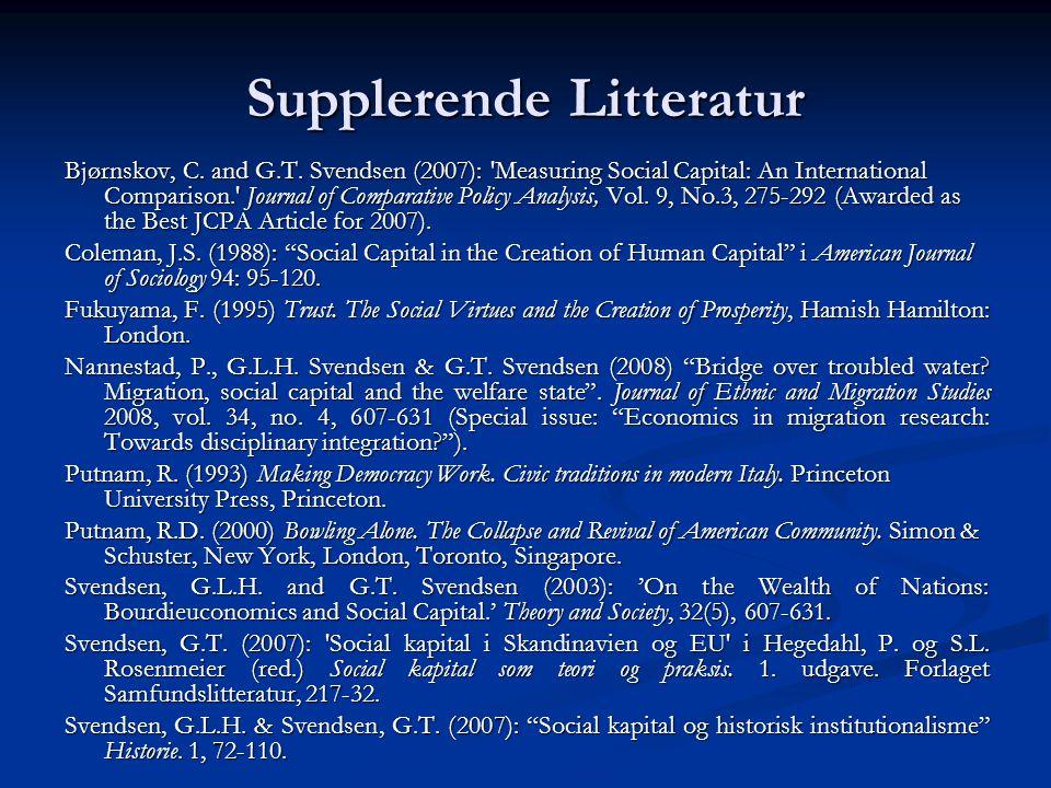 Supplerende Litteratur
