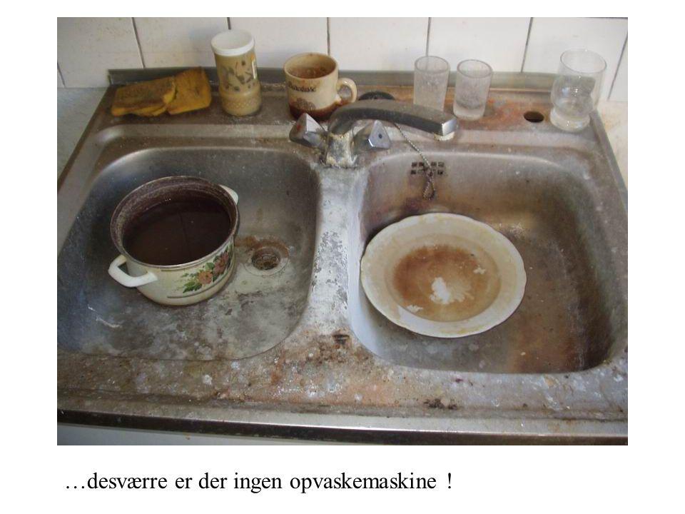 …desværre er der ingen opvaskemaskine !