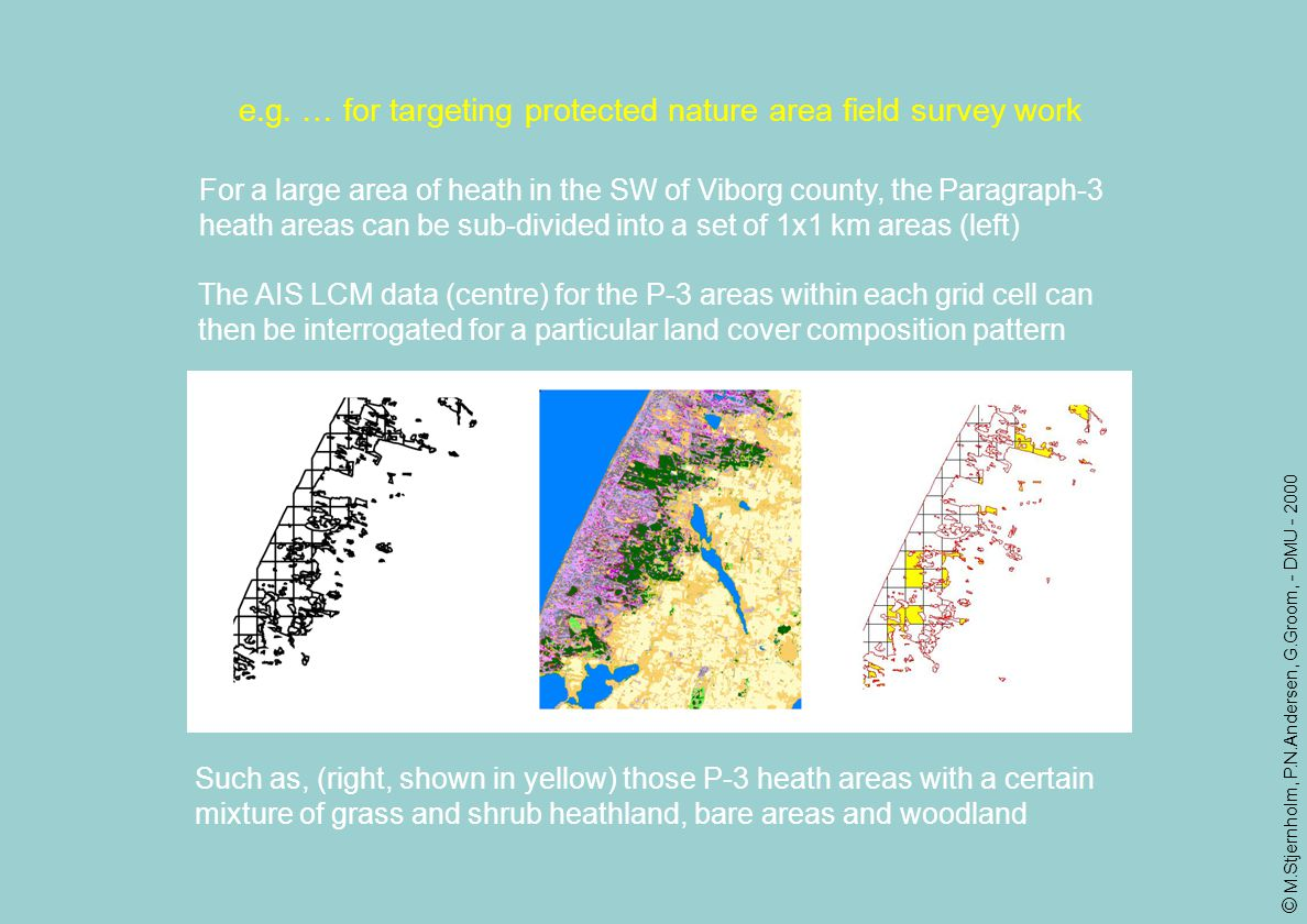 e.g. … for targeting protected nature area field survey work